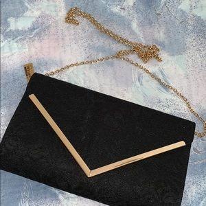 Black clutch/crossbody bag